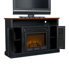 Antebellum Media Stand & Electric Fireplace