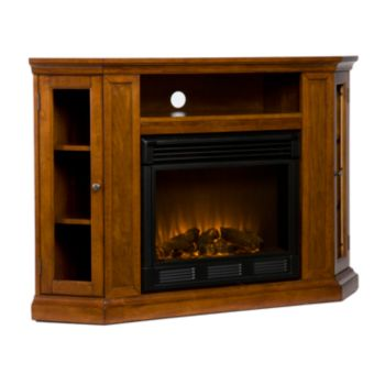 Claremont Media Console and Electric Fireplace