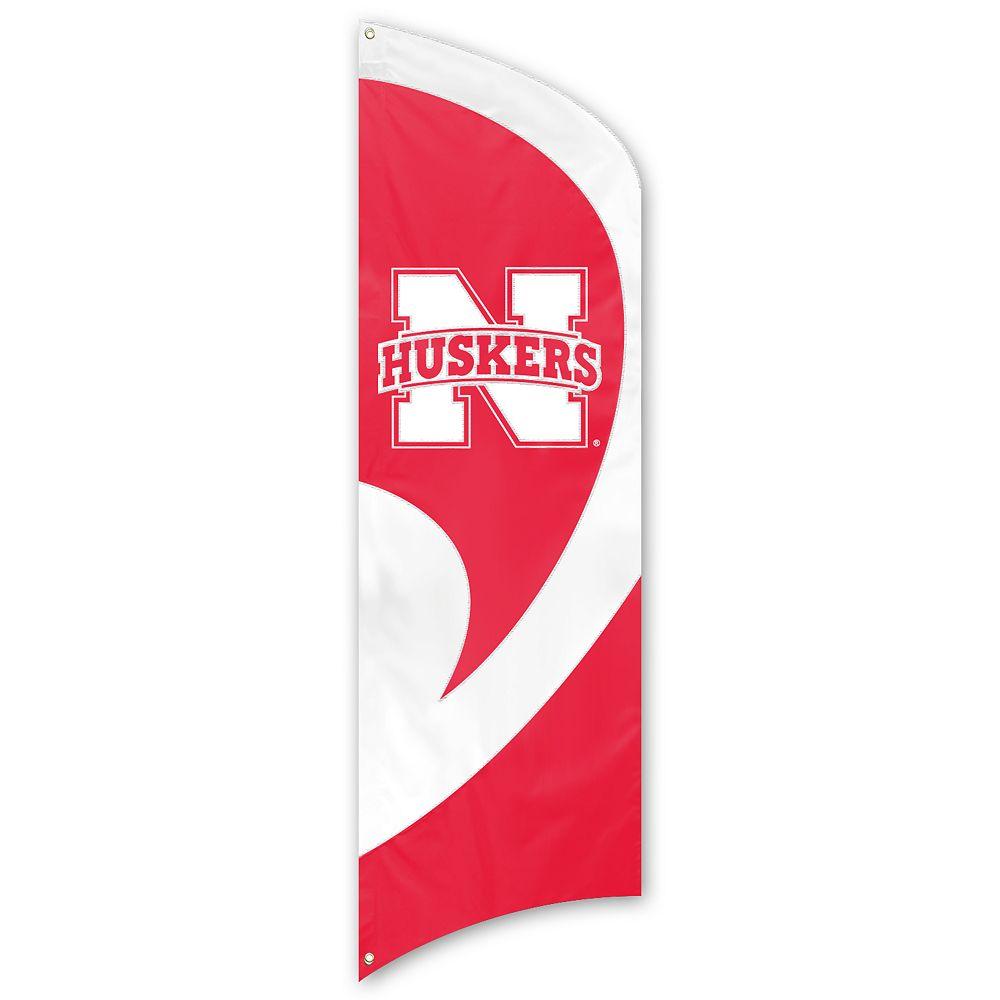 Nebraska Cornhuskers Tall Team Flag