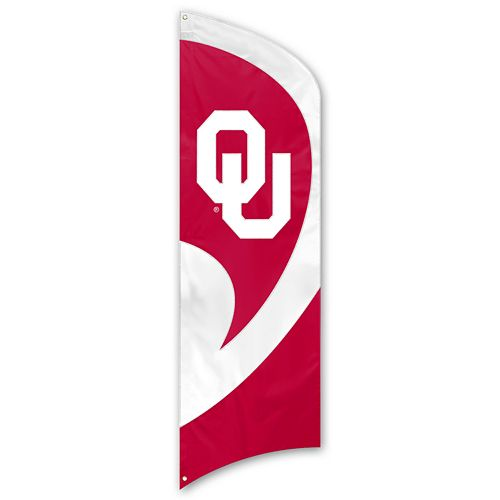 Oklahoma Sooners Tall Team Flag