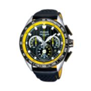 Pulsar Men's Leather Chronograph Watch - PU2007