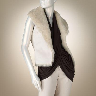 Jennifer Lopez Reversible Faux-Fur Vest