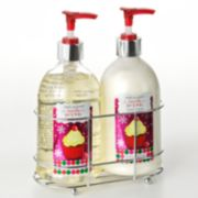 Simple Pleasures Vanilla Icing Hand Soap and Hand Lotion Caddy Gift Set