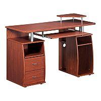Techni Mobili Mahogany Computer Desk