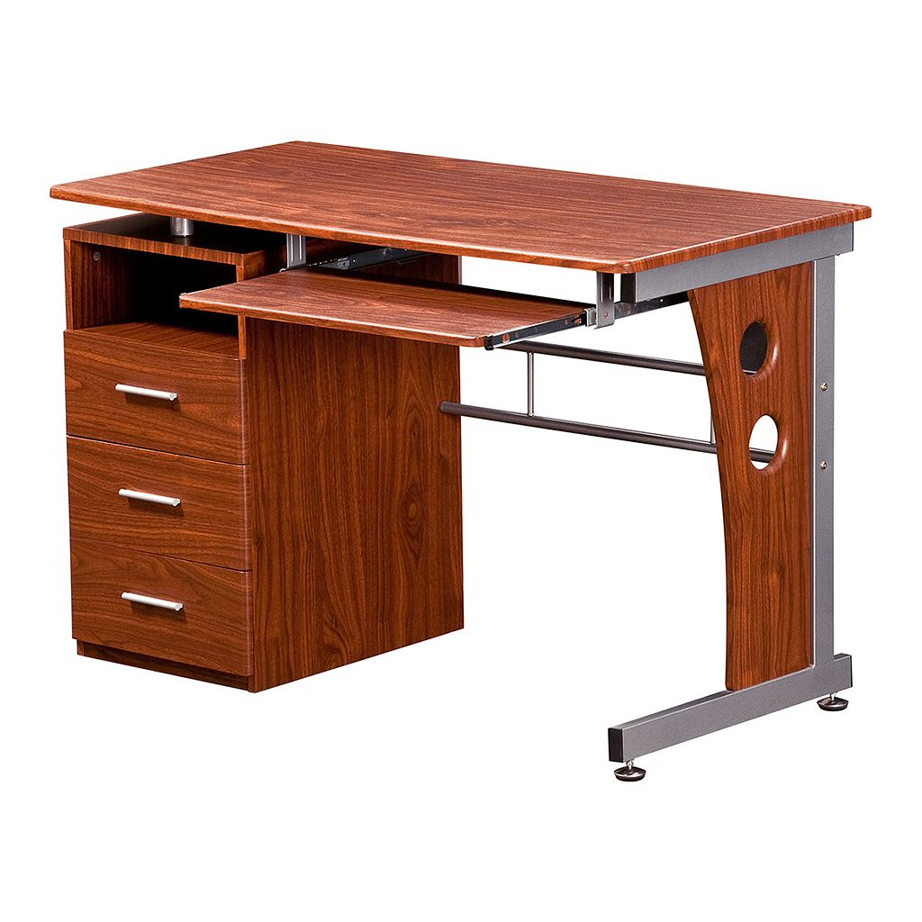 Techni Mobili 3 Drawer Computer Desk