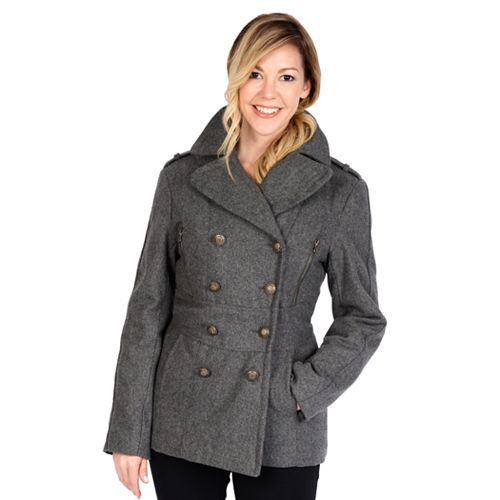 Women's Excelled Military Wool Blend Peacoat