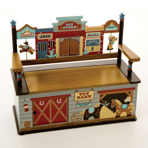 Levels of Discovery Wild West Storage Bench