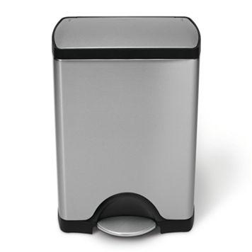 simplehuman 8-Gallon Rectangular Step Trash Can