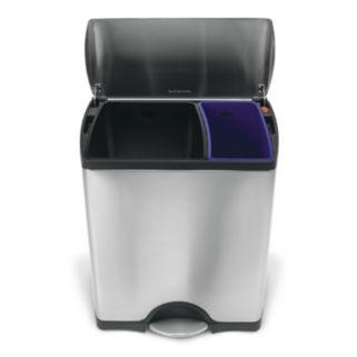 simplehuman 12-Gallon Rectangular Step Recycler