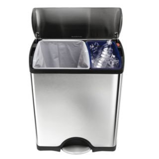 simplehuman 12-Gallon Rectangular Step Recycler