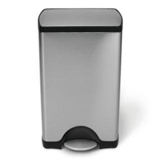 simplehuman 10-Gallon Rectangular Step Trash Can
