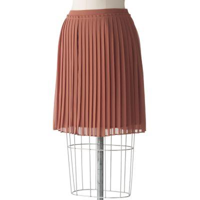 LC Lauren Conrad Pleated Chiffon Skirt