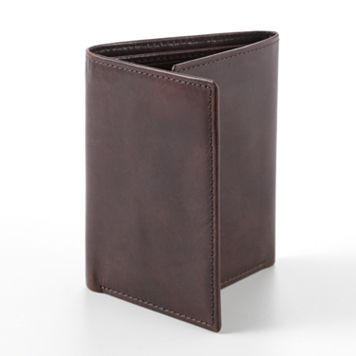 Croft & Barrow® Two-Tone Leather Trifold Wallet