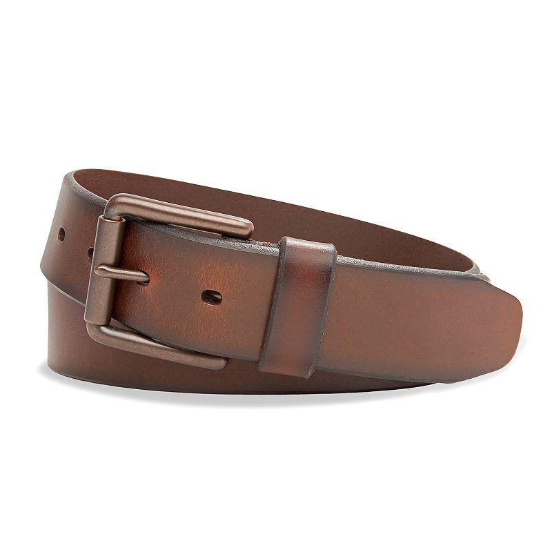 Dockers Men's Logo Bridle Belt Brown 42