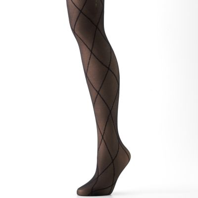 Apt. 9 Large Diamond Control-Top Tights