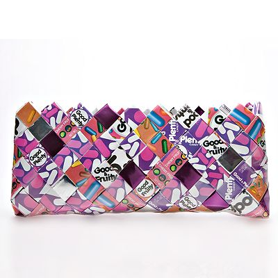 Nahui Ollin Arm Candy Good and Plenty Candy Wrapper Clutch