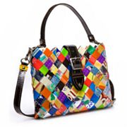 Nahui Ollin Arm Candy Honey Dew Tutti Frutti Candy Wrapper Cross-Body Bag