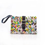 Nahui Ollin Arm Candy Honey Dew Peace Love Candy Wrapper Cross-Body Bag