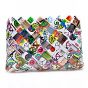 Nahui Ollin Arm Candy Camera Bag Peace and Love Candy Wrapper Wristlet
