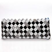Nahui Ollin Arm Candy Moonlite Black and White Candy Wrapper Wristlet