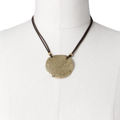 SONOMA life + style Gold Tone Hammered Disc Multistrand Necklace