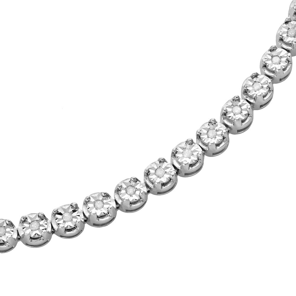 Sterling Silver 1/2-ct. T.W. Diamond Tennis Bracelet