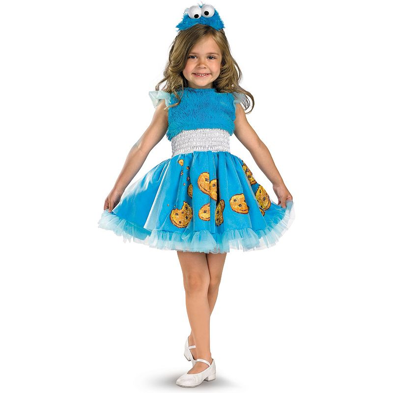 Sesame Street Frilly Cookie Monster Costume - Toddler/Kids (Multicolor)