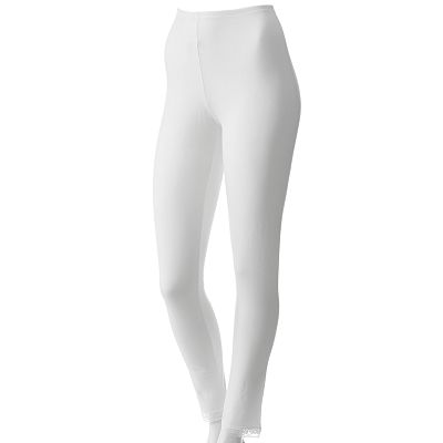 Cuddl Duds Softwear Lace-Trim Leggings