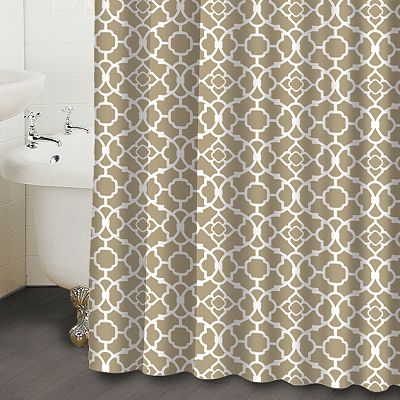 Waverly Lattice Fabric Shower Curtain