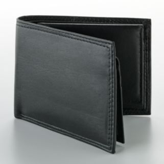 Buxton Double ID Leather Billfold Wallet with Card Case