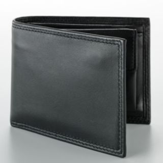 Buxton Zip Convertible Leather Billfold Wallet