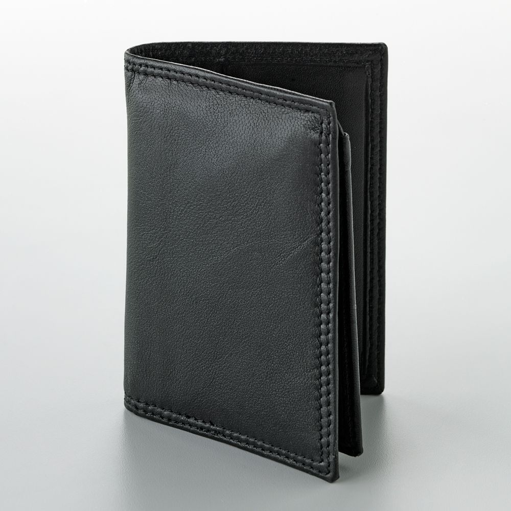 Buxton Men/'s Emblem-leather Executive Twofold Wallet