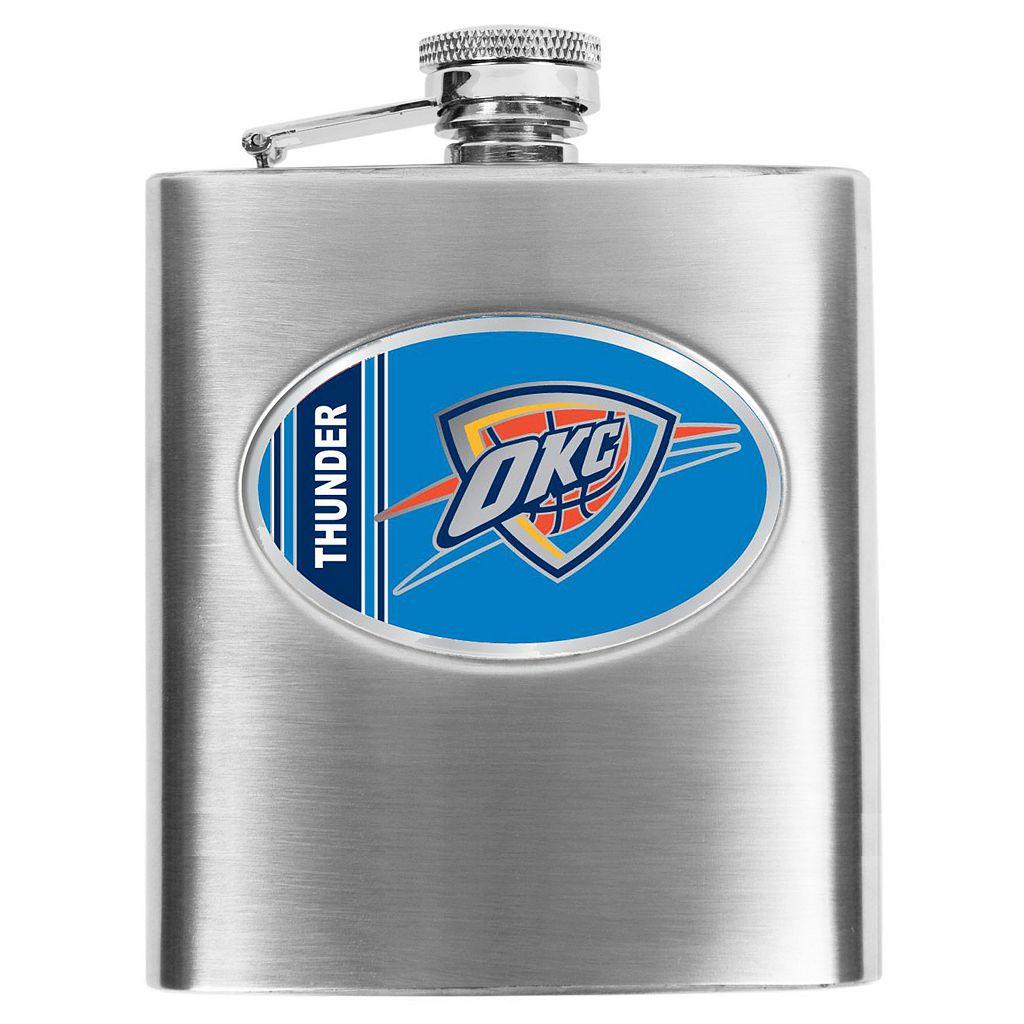 Oklahoma City Thunder Stainless Steel Hip Flask