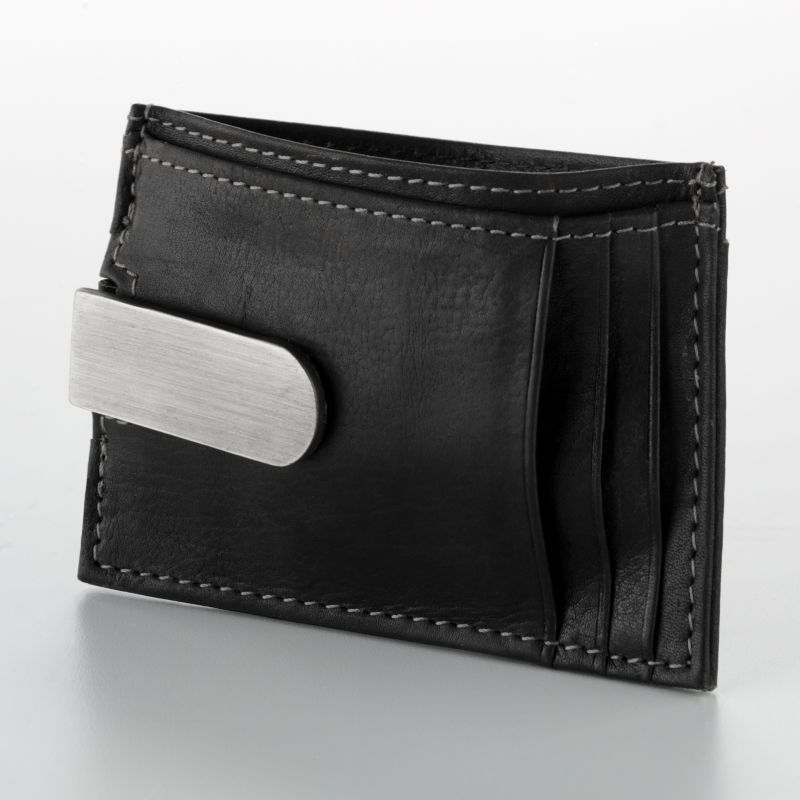 Buxton Leather Front Pocket Wallet, Black