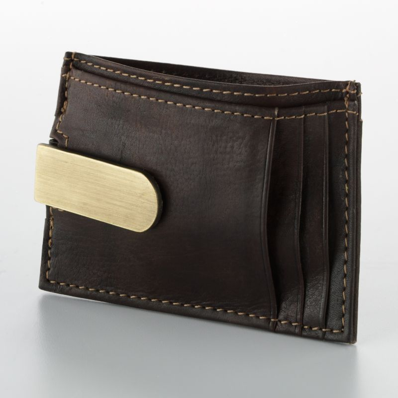 Buxton Leather Front Pocket Wallet, Brown