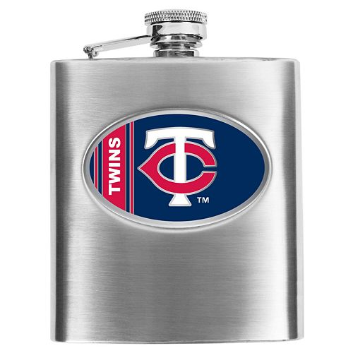 Minnesota Twins Stainless Steel Hip Flask