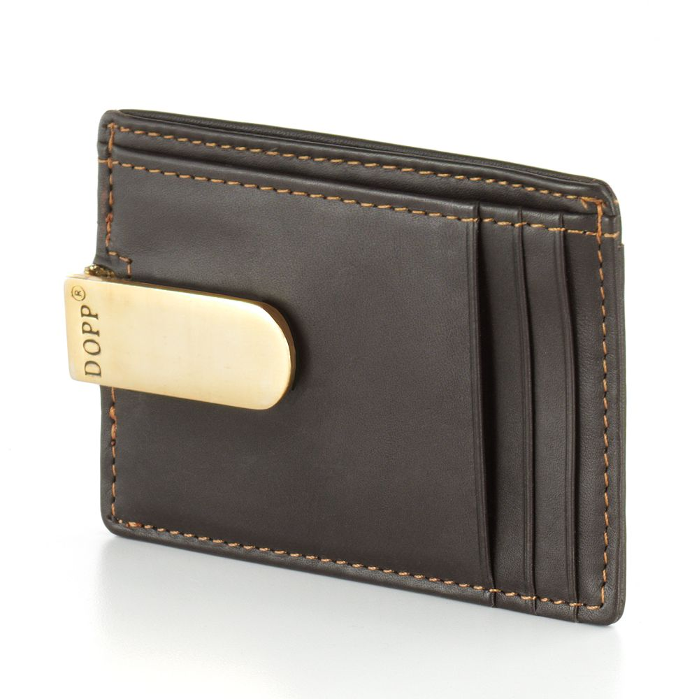 DOPP Leather Front Pocket Money Clip Wallet