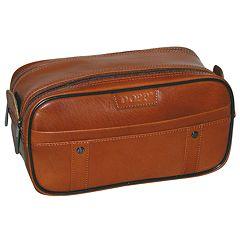 DOPP Veneto Soft-Sided Multi-Zip Leather Travel Kit