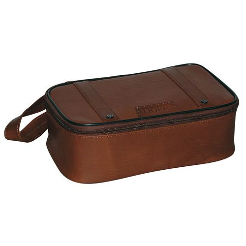 DOPP Veneto Top-Zip Leather Travel Kit