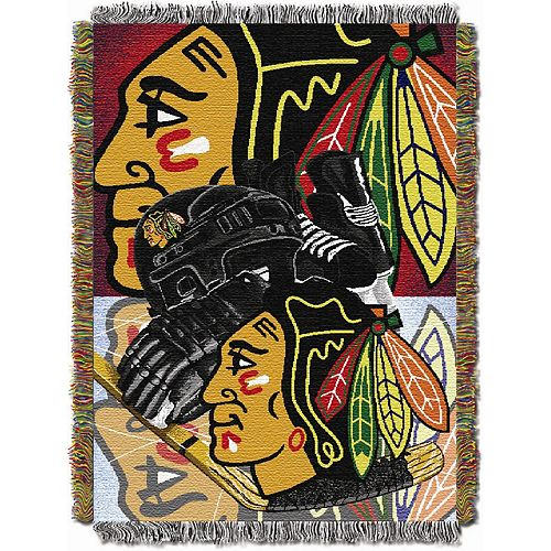Chicago Blackhawks Home Ice Advantage Throw Blanket