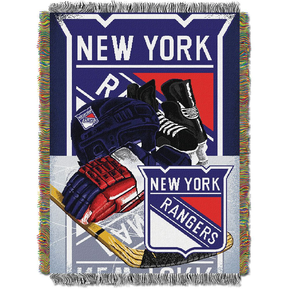 New York Rangers Home Ice Advantage Throw Blanket