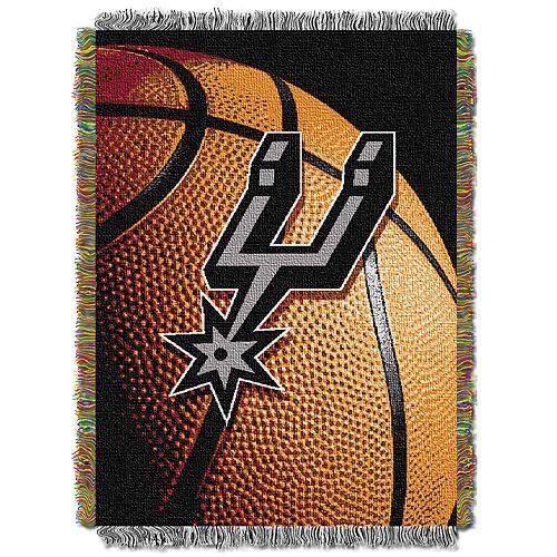San Antonio Spurs Logo Throw Blanket