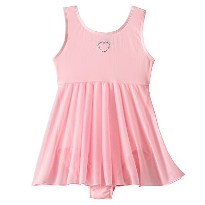 Jacques Moret Heart Babydoll Skirted Dance Leotard - Girls' 4-14