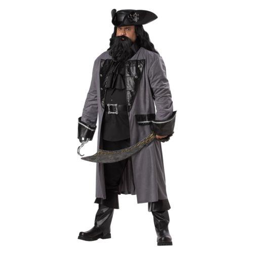 Blackbeard The Pirate Costume - Adult Plus