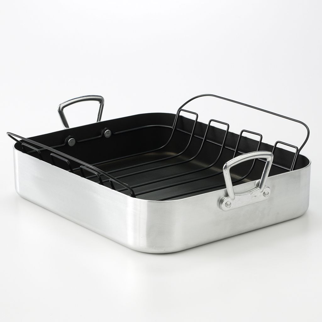 Food Network 17-in. Aluminum Roaster