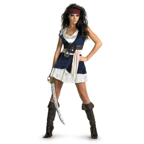 Disney Pirates of the Caribbean Jack Sparrow Costume - Adult