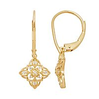 10k Gold Diamond Accent Drop Earrings