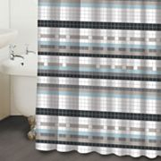 Famous Home Fashions Blake Tile Fabric Shower Curtain
