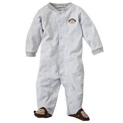 Carter's Striped Monkey Sleep and Play - Preemie