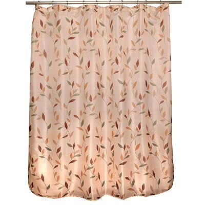 Famous Home Fashions Shadow Fabric Leaf Shower Curtain